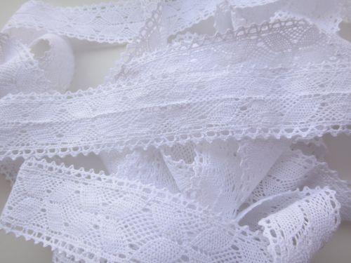 3.5cm Crochet Lace White