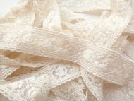 3cm Embroidered Lace Cream
