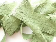 5cm Crochet Lace Green
