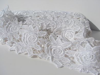 Wide White Flower Lace
