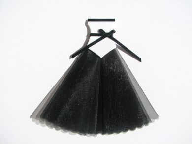 Black and White Ballgown