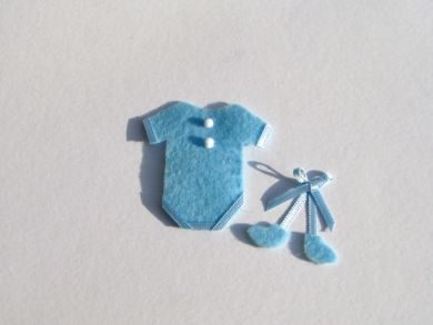 Miniature Blue Baby Outfit