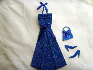 Royal Blue Glitter Dress