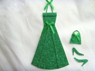 Miniature Green Glitter Dress