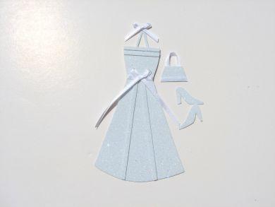 Miniature Pale Aqua Glitter Dress