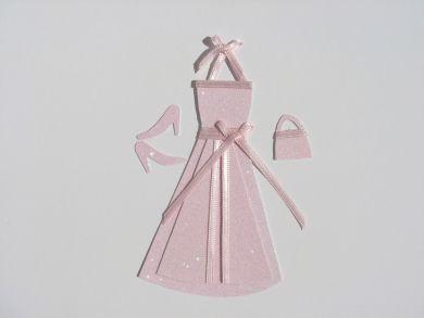 Pink Glitter Halterneck Dress