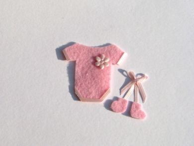 Miniature Pink Baby Outfit