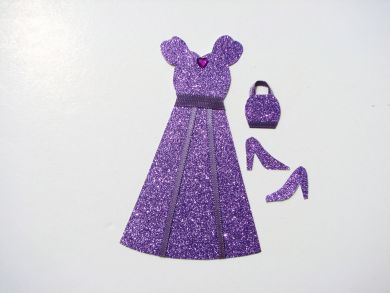 Miniature Purple Glitter Dress