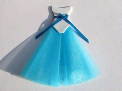 Turquoise Miniature Ballgown
