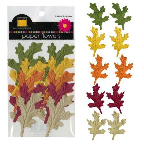 Paper Oak Leaves