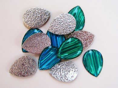 Green Turquoise Teardrop Gems