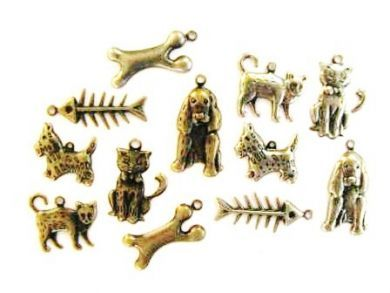 Cats and Dogs Metal Charms