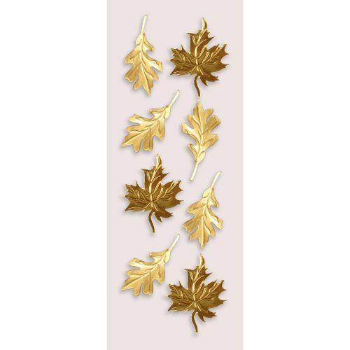 Gold Autumn Leaves Mini Stickers