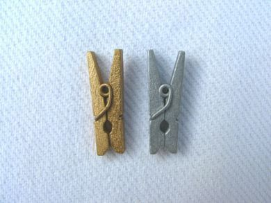 Mini Pegs Gold and Silver