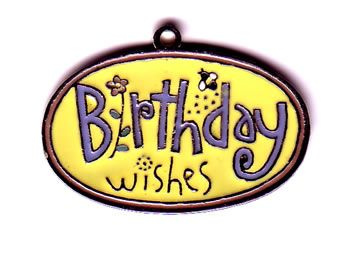 Metal Birthday Tag