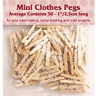 Mini Pegs Natural