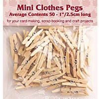 Mini Pegs Natural