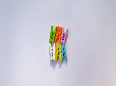 Mini Pegs Coloured