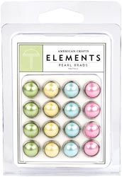 Pearl Brads Pastels