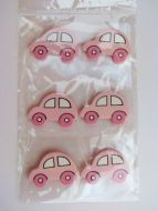 Wooden Toy Car Pink