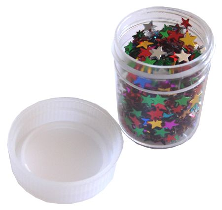 Multicolored  Metallic Star Confetti