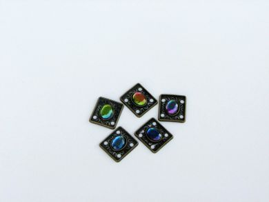 Square Vintage Gemstone Embellishment