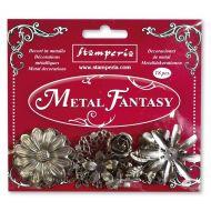 Metal Fantasy Flower Embellishments