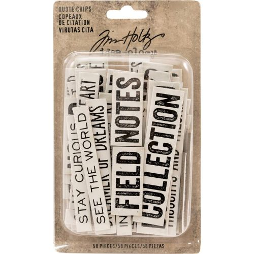 Tim Holtz Idea-ology Quote Chips (OUT OF STOCK)