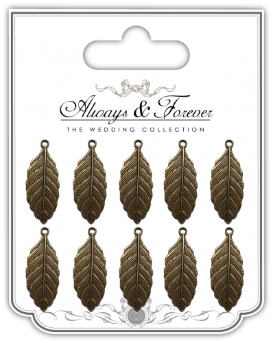 Vintage Feathers Metal Charms