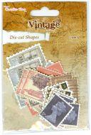 Vintage Die Cut Postage Stamps