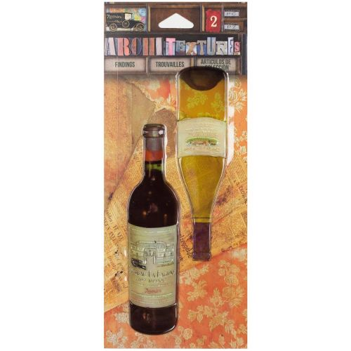 Wine Bottle Adhesive Embellishments