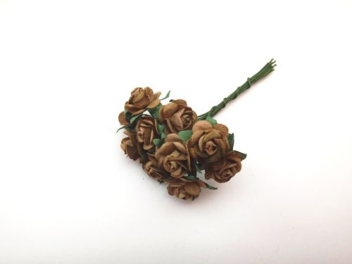 Brown Mulberry Paper Roses