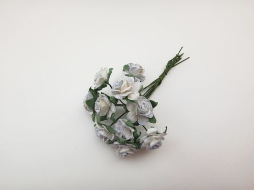 Grey and White Mulberry Paper Roses