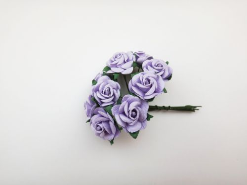 25mm Lilac Mulberry Paper Roses
