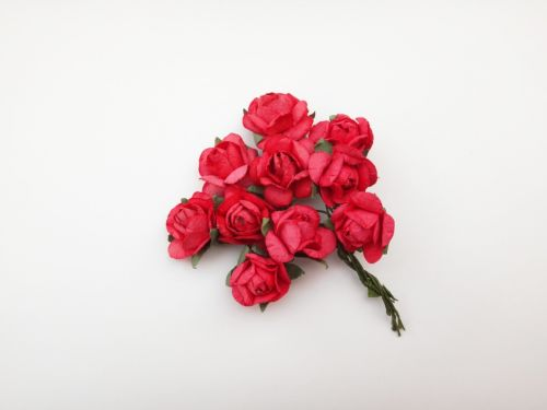 25mm Red Mulberry Paper Flowers
