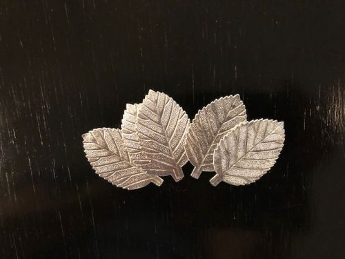 Large Silver Foil Leaves