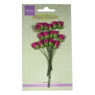 Paper Rose Buds Dark Pink