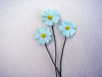 Turquoise Paper Flowers