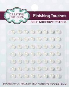 5mm Self Adhesive Pearls Natural