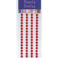 5mm Red Self Adhesive Pearls