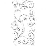 Self Adhesive Pearl Swirls Silver