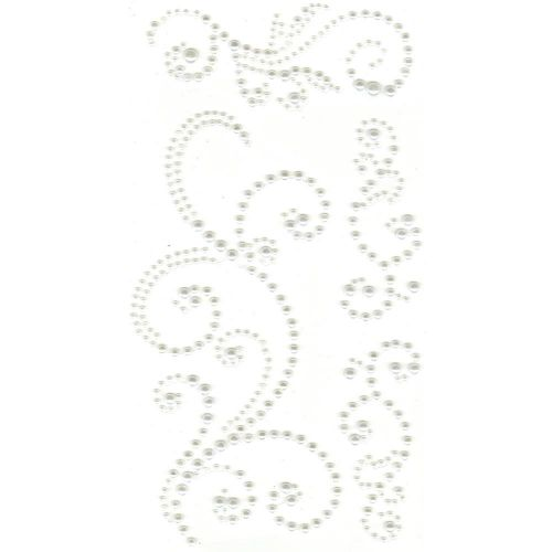 Self Adhesive Pearl Swirls White