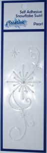 Self Adhesive Snowflake Pearl Swirl