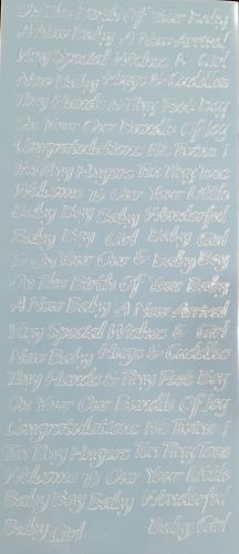 Birth of Baby Peel Off Stickers Blue