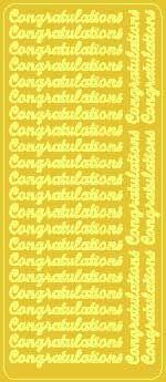 Gold Congratulations Peel Off