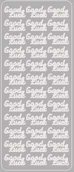 Silver Good Luck Peel Offs