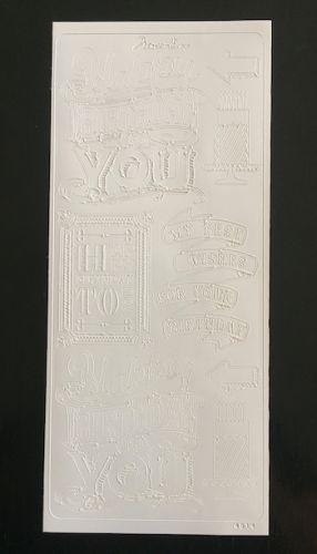 Chalkboard Happy Birthday Peel Off Stickers White