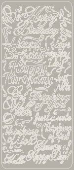 Everyday Greetings Peel Off Stickers Silver