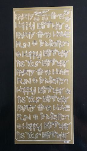 Party Time Peel Off Stickers Gold