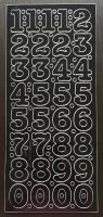 Large Peel Off Number Stickers Black